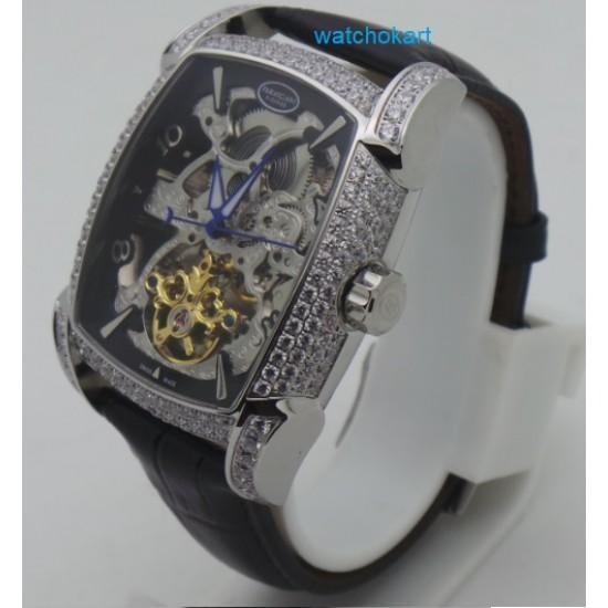 Parmigiani Fleurier: Kalpa XL Tourbillon Skeliton Black Diamnod Swiss Automatic Watch
