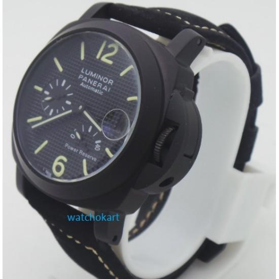 Panerai Power Reserve Black Swiss Automatic Mens Watch