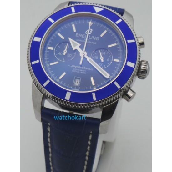 Breitling Superocean Chronograph 2 Blue Strap Watch