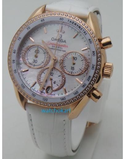 Omega Speedmaster Cappuccino White Ladies Watch