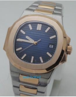 Patek Philippe Nautilus Blue Dual Tone Swiss Automatic Watch
