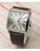 Franck Muller Square Master Leather Strap Watch