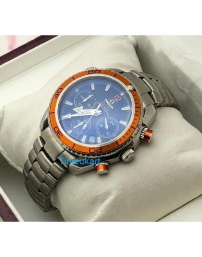 Omega Seamaster Planet Ocean Orange Bezel Ladies Watch