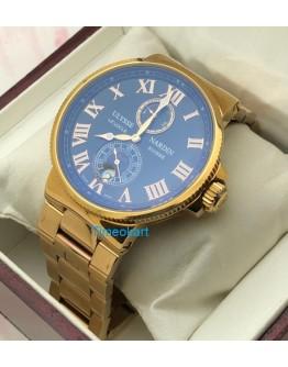 Ulysse Nardin Maxi Marine Rose Gold Swiss Automatic Watch