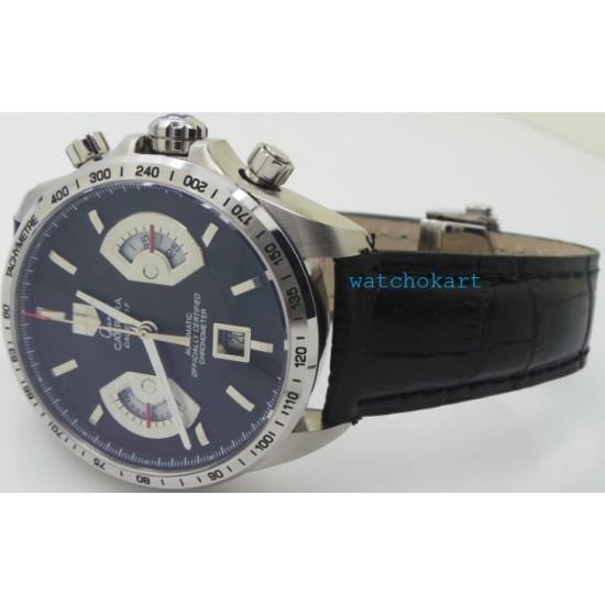 Tag Heuer Grand Carrera Calibre 17 Leather Strap Swiss ETA 7750 Valjoux Movement Automatic Watch