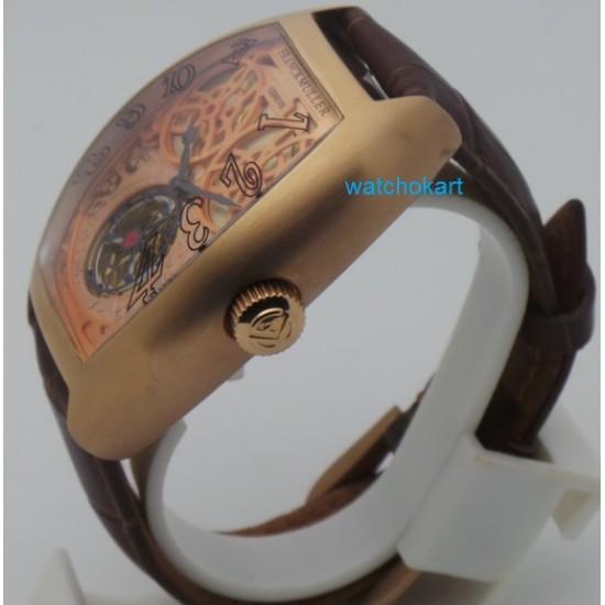Franck Muller Giga Tourbillon Golden Swiss Automatic Watch