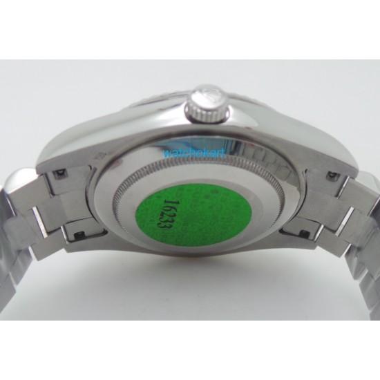 Rolex Day-Date Steel Roman Marking  Green Swiss ETA 7750 Valjoux Automatic Movement Watch