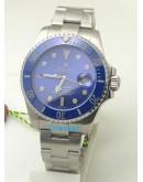 Rolex Submariner Blue Dial Swiss ETA 7750 Valjoux Movement Watch