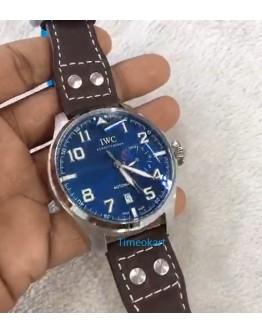 I W C Big Pilot Tourbillon Blue Steel Swiss ETA Automatic Watch