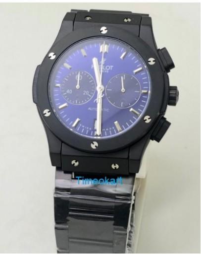 Hublot Classic Fusion Chronograph Blue Dail Black Watch